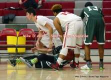 CIAC Boys Basketball; Focused on Wolcott JV vs. New Milford JV - Photo # (48)
