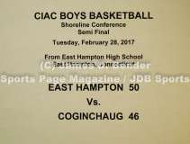 Gallery CIAC Boys Basketball Shoreline Semi: East Hampton 50 vs. Coginchaug 46