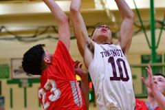CIAC Boys Basketball: Torrington 58 vs. Wolcott 56 - Photo # 261
