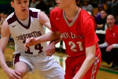 CIAC Boys Basketball: Torrington 58 vs. Wolcott 56 - Photo # 366
