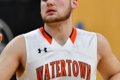 CIAC Boys Basketball; Watertown 63 vs. Wolcott 73 - Photo # 127