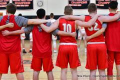 CIAC Boys Basketball; Watertown 63 vs. Wolcott 73 - Photo # 138