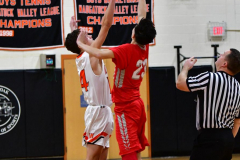 CIAC Boys Basketball; Watertown 63 vs. Wolcott 73 - Photo # 143