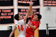 CIAC Boys Basketball; Watertown 63 vs. Wolcott 73 - Photo # 146