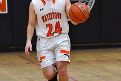 CIAC Boys Basketball; Watertown 63 vs. Wolcott 73 - Photo # 150