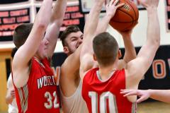 CIAC Boys Basketball; Watertown 63 vs. Wolcott 73 - Photo # 159