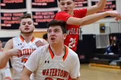 CIAC Boys Basketball; Watertown 63 vs. Wolcott 73 - Photo # 166