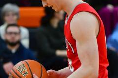 CIAC Boys Basketball; Watertown 63 vs. Wolcott 73 - Photo # 188