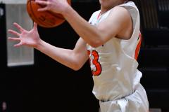 CIAC Boys Basketball; Watertown 63 vs. Wolcott 73 - Photo # 199