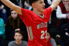 CIAC Boys Basketball; Watertown 63 vs. Wolcott 73 - Photo # 204