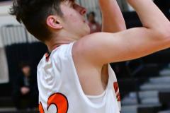 CIAC Boys Basketball; Watertown 63 vs. Wolcott 73 - Photo # 215