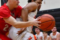 CIAC Boys Basketball; Watertown 63 vs. Wolcott 73 - Photo # 227