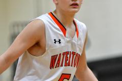 CIAC Boys Basketball; Watertown 63 vs. Wolcott 73 - Photo # 240