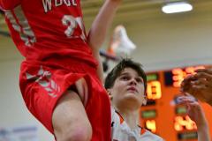 CIAC Boys Basketball; Watertown 63 vs. Wolcott 73 - Photo # 246