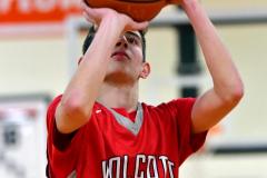 CIAC Boys Basketball; Watertown 63 vs. Wolcott 73 - Photo # 250