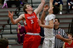 CIAC Boys Basketball; Wolcott 47 vs. Greenwich 76 - Photo # 149