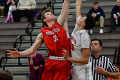 CIAC Boys Basketball; Wolcott 47 vs. Greenwich 76 - Photo # 150