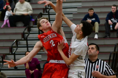CIAC Boys Basketball; Wolcott 47 vs. Greenwich 76 - Photo # 151