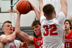 CIAC Boys Basketball; Wolcott 47 vs. Greenwich 76 - Photo # 162