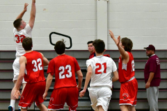 CIAC Boys Basketball; Wolcott 47 vs. Greenwich 76 - Photo # 177