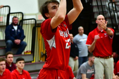 CIAC Boys Basketball; Wolcott 47 vs. Greenwich 76 - Photo # 183