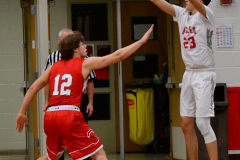 CIAC Boys Basketball; Wolcott 47 vs. Greenwich 76 - Photo # 200