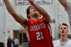 CIAC Boys Basketball; Wolcott 47 vs. Greenwich 76 - Photo # 204
