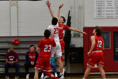 CIAC Boys Basketball; Wolcott 47 vs. Greenwich 76 - Photo # 228