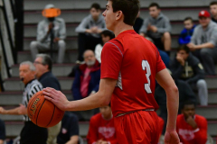 CIAC Boys Basketball; Wolcott 47 vs. Greenwich 76 - Photo # 235