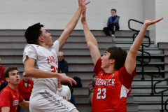 CIAC Boys Basketball; Wolcott 47 vs. Greenwich 76 - Photo # 246