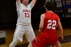 CIAC Boys Basketball; Wolcott 47 vs. Greenwich 76 - Photo # 248