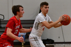 CIAC Boys Basketball; Wolcott 47 vs. Greenwich 76 - Photo # 256