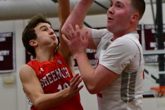 CIAC Boys Basketball; Wolcott 47 vs. Greenwich 76 - Photo # 267