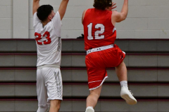 CIAC Boys Basketball; Wolcott 47 vs. Greenwich 76 - Photo # 270