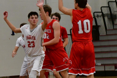 CIAC Boys Basketball; Wolcott 47 vs. Greenwich 76 - Photo # 295