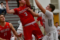CIAC Boys Basketball; Wolcott 47 vs. Greenwich 76 - Photo # 331