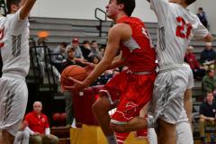CIAC Boys Basketball; Wolcott 47 vs. Greenwich 76 - Photo # 333