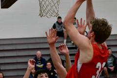 CIAC Boys Basketball; Wolcott 47 vs. Greenwich 76 - Photo # 371