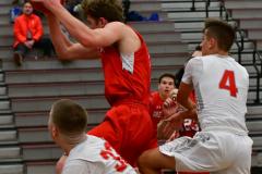 CIAC Boys Basketball; Wolcott 47 vs. Greenwich 76 - Photo # 410