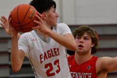 CIAC Boys Basketball; Wolcott 47 vs. Greenwich 76 - Photo # 425