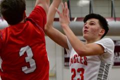 CIAC Boys Basketball; Wolcott 47 vs. Greenwich 76 - Photo # 449