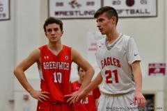 CIAC Boys Basketball; Wolcott 47 vs. Greenwich 76 - Photo # 520