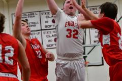CIAC Boys Basketball; Wolcott 47 vs. Greenwich 76 - Photo # 547