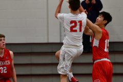 CIAC Boys Basketball; Wolcott 47 vs. Greenwich 76 - Photo # 573