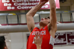 CIAC Boys Basketball; Wolcott 47 vs. Greenwich 76 - Photo # 587