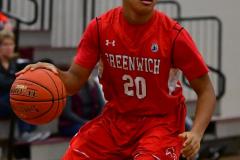 CIAC Boys Basketball; Wolcott 47 vs. Greenwich 76 - Photo # 626