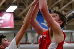 CIAC Boys Basketball; Wolcott 47 vs. Greenwich 76 - Photo # 633