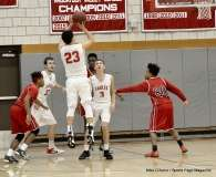 CIAC Boys Basketball; Wolcott 74 vs. Derby 58 - Photo # (40)