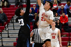 CIAC Boys Basketball; Wolcott 81 vs. Oxford 74 - Photo # 158