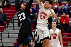 CIAC Boys Basketball; Wolcott 81 vs. Oxford 74 - Photo # 159
